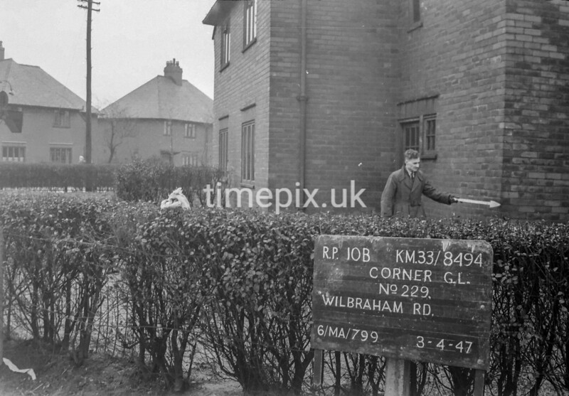 SJ849410B, Ordnance Survey Revision Point photograph in Greater Manchester