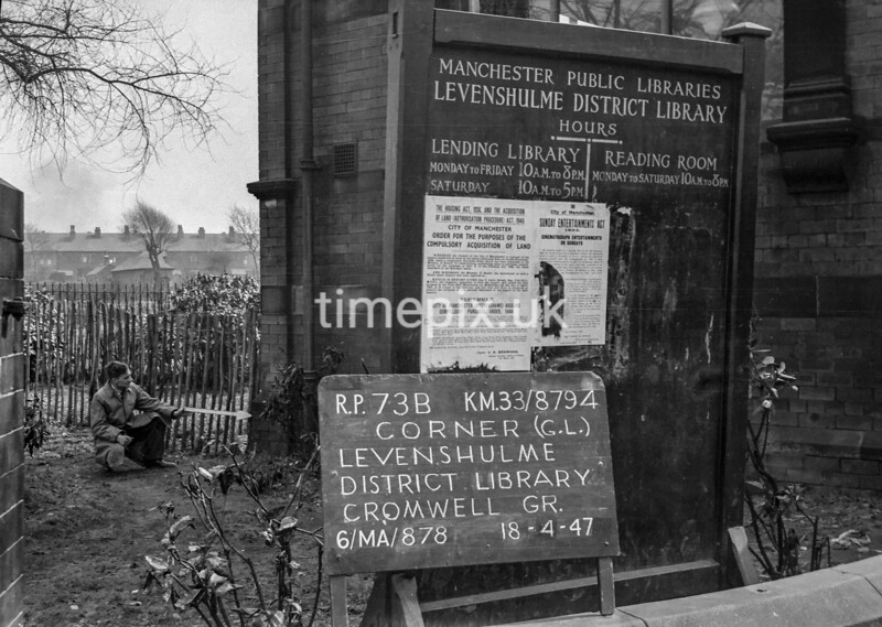 SJ879473B, Ordnance Survey Revision Point photograph in Greater Manchester