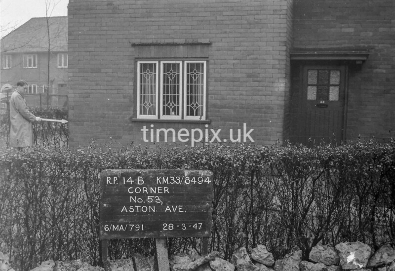 SJ849414B, Ordnance Survey Revision Point photograph in Greater Manchester