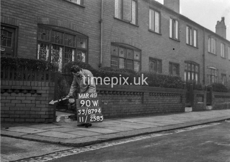 SJ879490W, Ordnance Survey Revision Point photograph in Greater Manchester