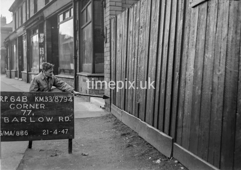 SJ879464B, Ordnance Survey Revision Point photograph in Greater Manchester