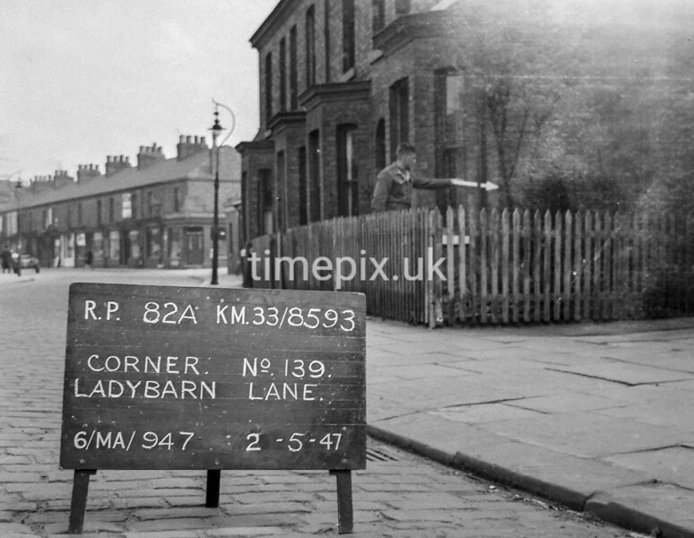 SJ859382A, Ordnance Survey Revision Point photograph in Greater Manchester