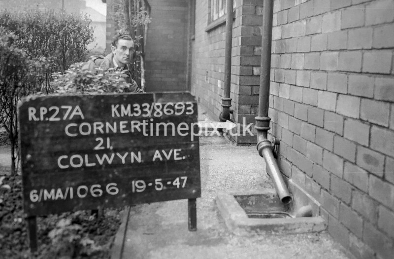 SJ869327A, Ordnance Survey Revision Point photograph in Greater Manchester