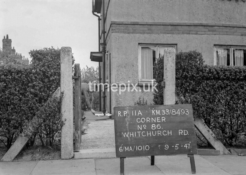 SJ849311A, Ordnance Survey Revision Point photograph in Greater Manchester