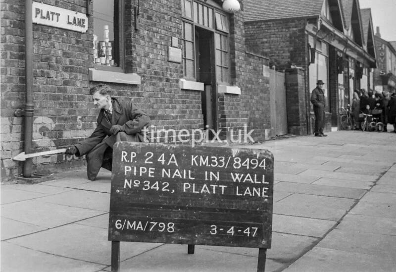 SJ849424A, Ordnance Survey Revision Point photograph in Greater Manchester