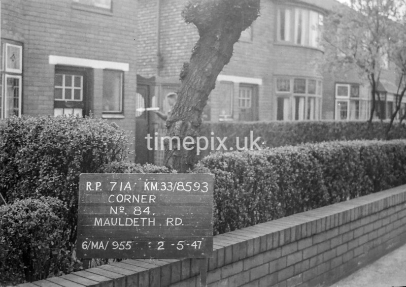 SJ859371A, Ordnance Survey Revision Point photograph in Greater Manchester