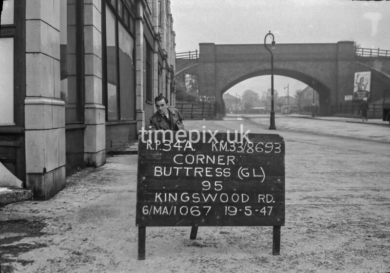 SJ869334A, Ordnance Survey Revision Point photograph in Greater Manchester