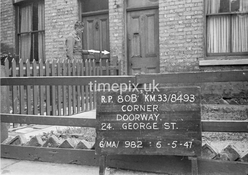 SJ849380B, Ordnance Survey Revision Point photograph in Greater Manchester