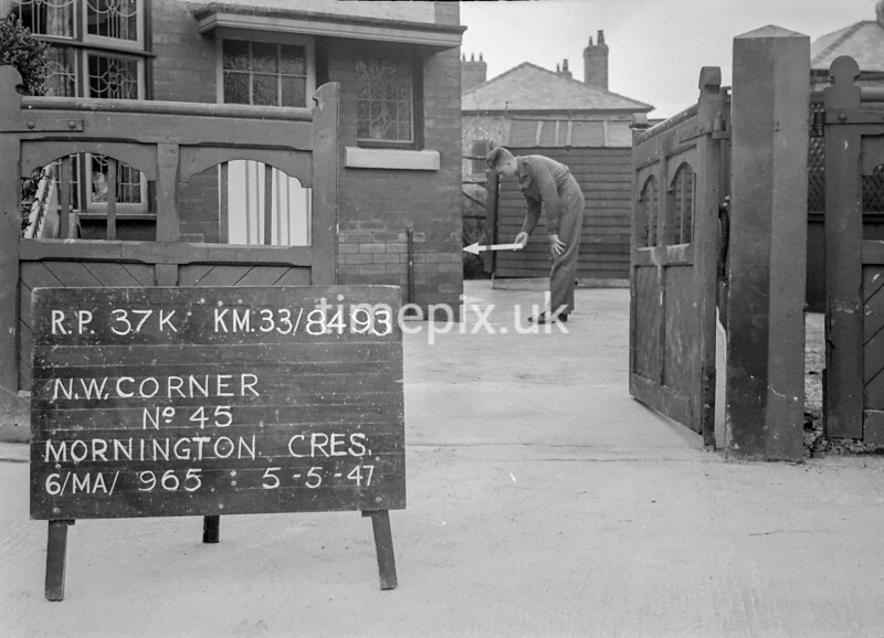 SJ849337K, Ordnance Survey Revision Point photograph in Greater Manchester