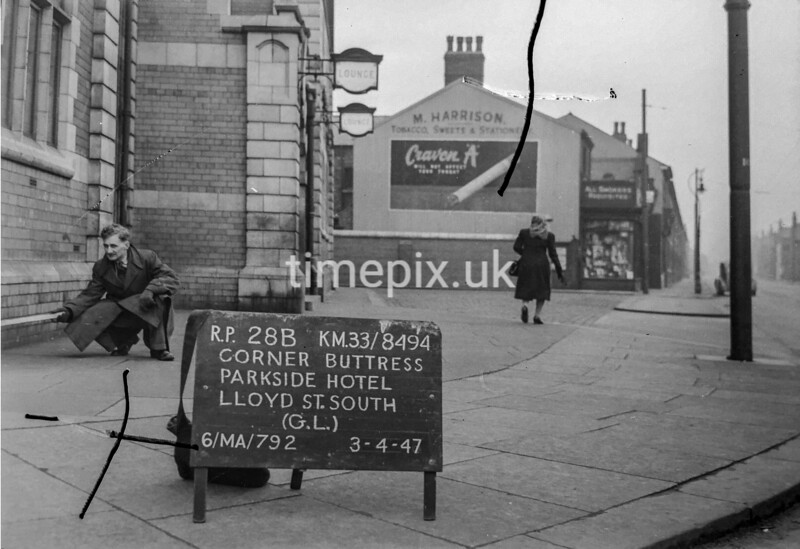 SJ849428B2, Ordnance Survey Revision Point photograph in Greater Manchester