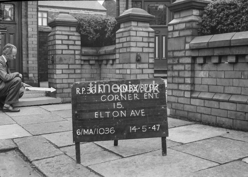 SJ879336A, Ordnance Survey Revision Point photograph in Greater Manchester