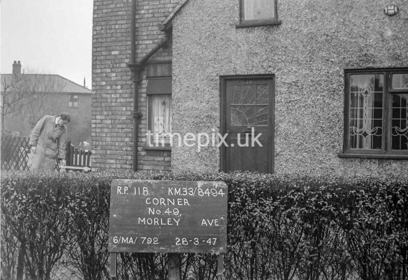 SJ849411B, Ordnance Survey Revision Point photograph in Greater Manchester