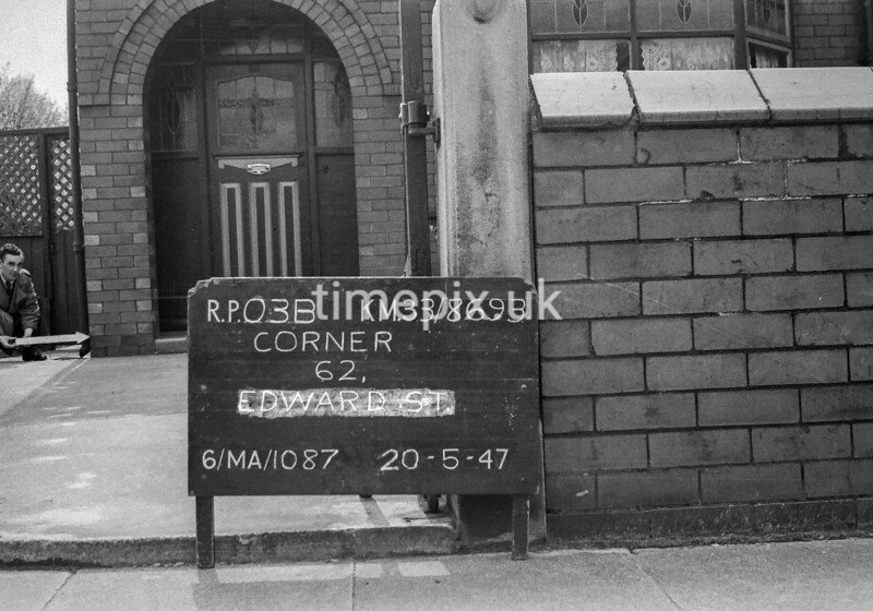 SJ869303B, Ordnance Survey Revision Point photograph in Greater Manchester