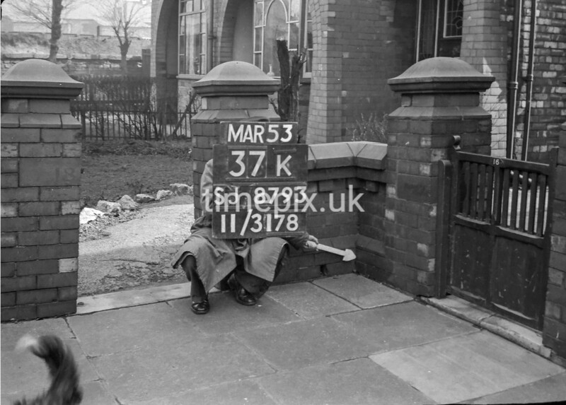 SJ879337K, Ordnance Survey Revision Point photograph in Greater Manchester