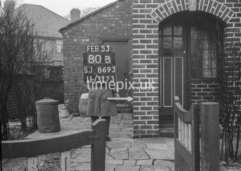 SJ869380B, Ordnance Survey Revision Point photograph in Greater Manchester