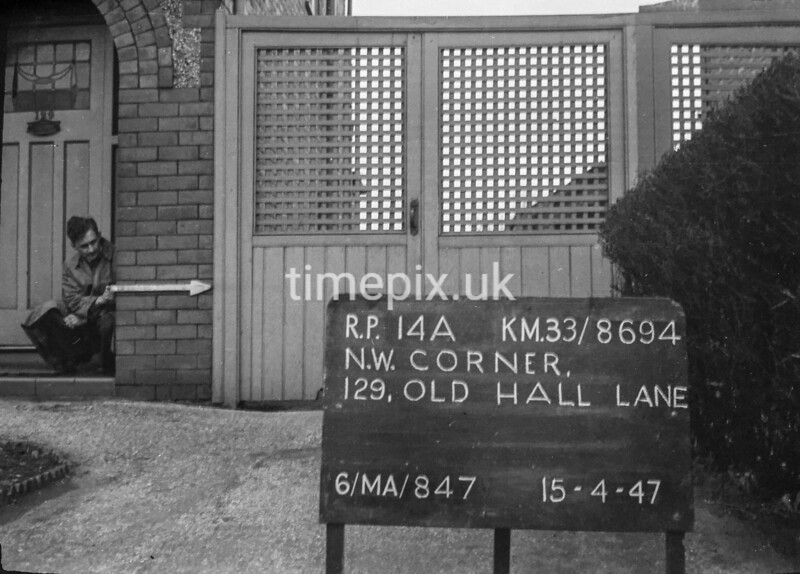 SJ869414A, Ordnance Survey Revision Point photograph in Greater Manchester