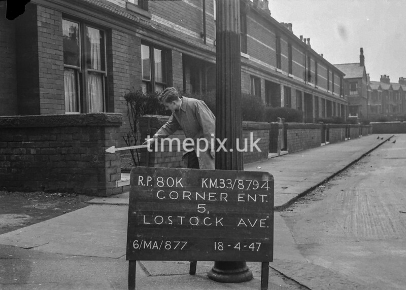 SJ879480K, Ordnance Survey Revision Point photograph in Greater Manchester
