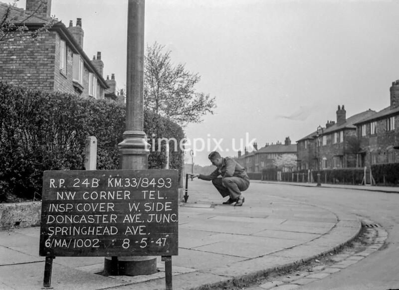 SJ849324B, Ordnance Survey Revision Point photograph in Greater Manchester