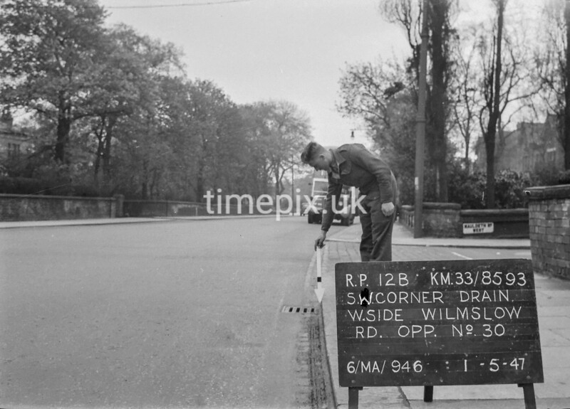 SJ859312B, Ordnance Survey Revision Point photograph in Greater Manchester