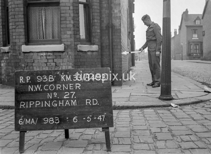 SJ849393B, Ordnance Survey Revision Point photograph in Greater Manchester
