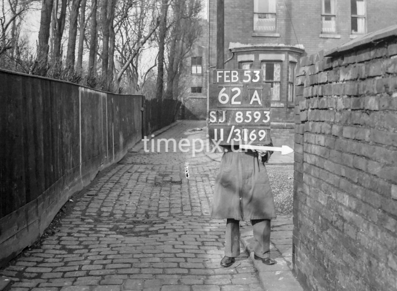 SJ859362A, Ordnance Survey Revision Point photograph in Greater Manchester