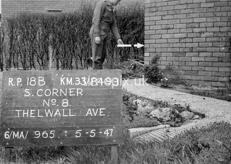 SJ849318B, Ordnance Survey Revision Point photograph in Greater Manchester