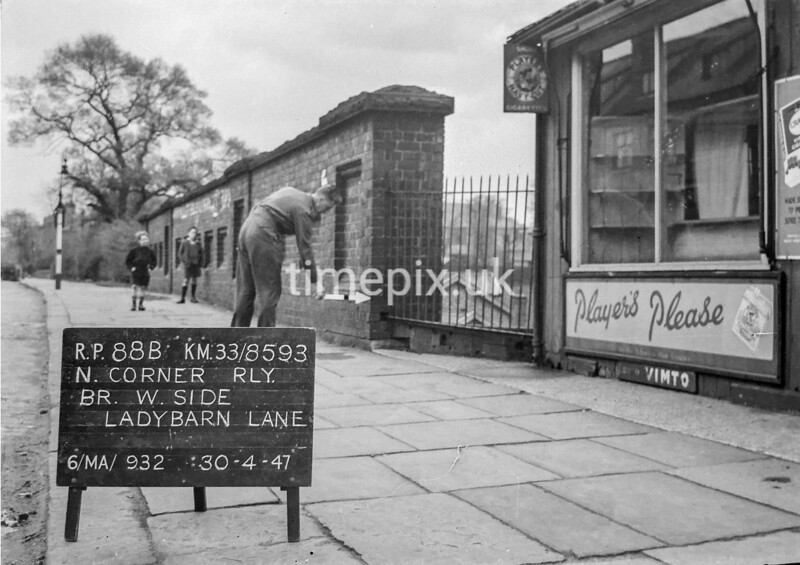 SJ859388B, Ordnance Survey Revision Point photograph in Greater Manchester