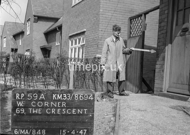 SJ869459A, Ordnance Survey Revision Point photograph in Greater Manchester