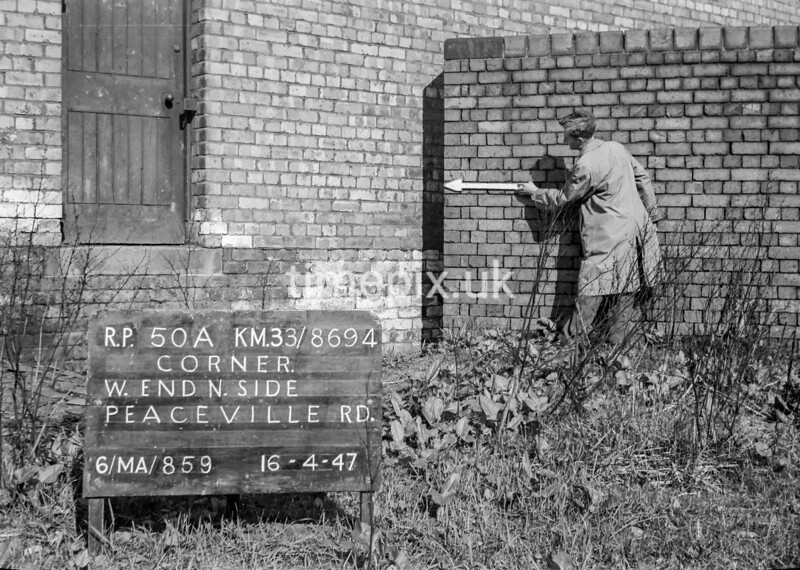 SJ869450A, Ordnance Survey Revision Point photograph in Greater Manchester