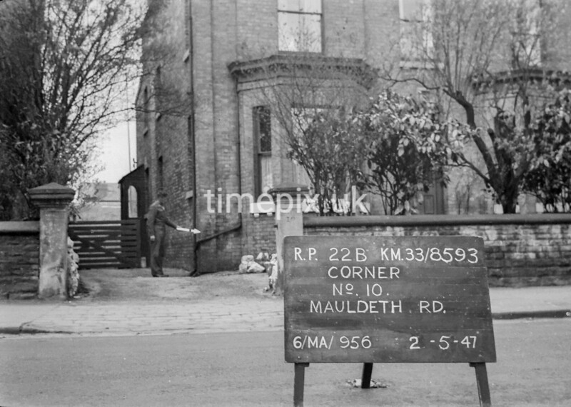 SJ859322B, Ordnance Survey Revision Point photograph in Greater Manchester