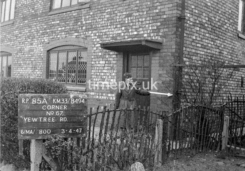 SJ849485A, Ordnance Survey Revision Point photograph in Greater Manchester