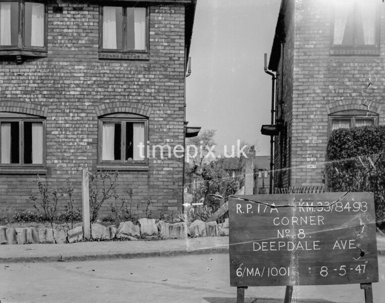SJ849317A, Ordnance Survey Revision Point photograph in Greater Manchester