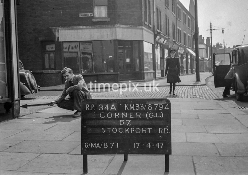 SJ879434A, Ordnance Survey Revision Point photograph in Greater Manchester