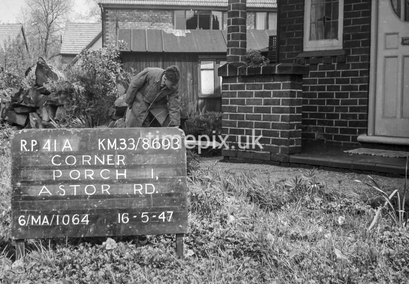 SJ869341A, Ordnance Survey Revision Point photograph in Greater Manchester