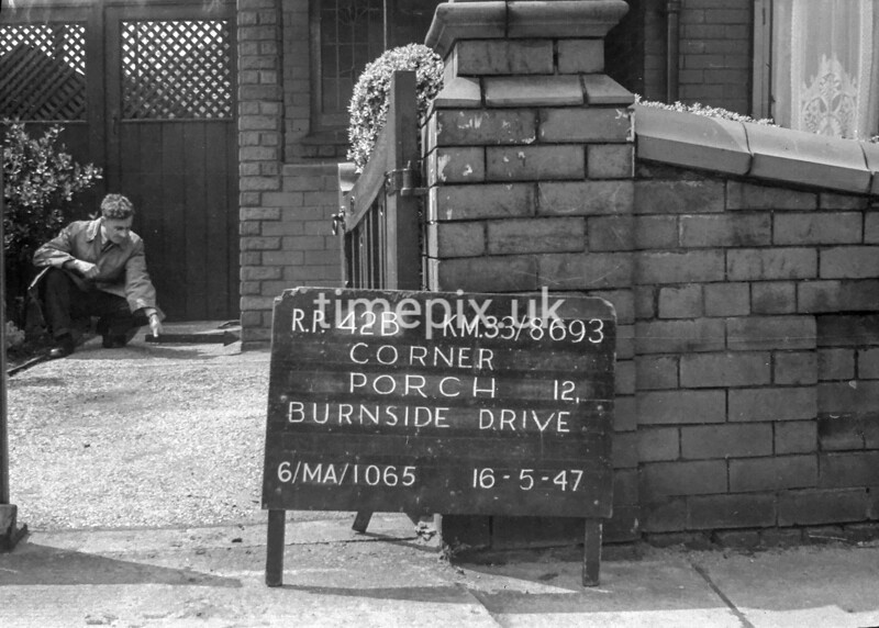 SJ869342B, Ordnance Survey Revision Point photograph in Greater Manchester