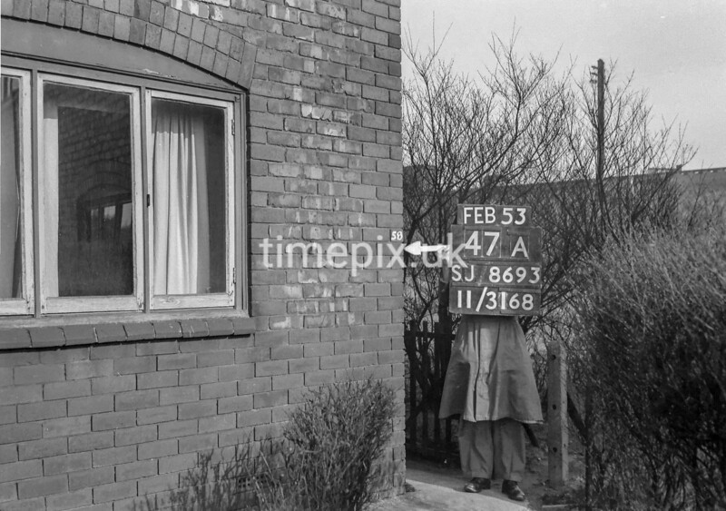 SJ869347A, Ordnance Survey Revision Point photograph in Greater Manchester