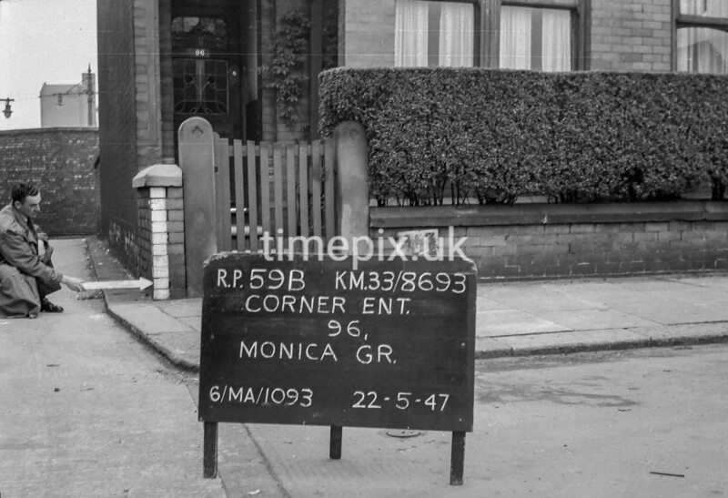 SJ869359B, Ordnance Survey Revision Point photograph in Greater Manchester