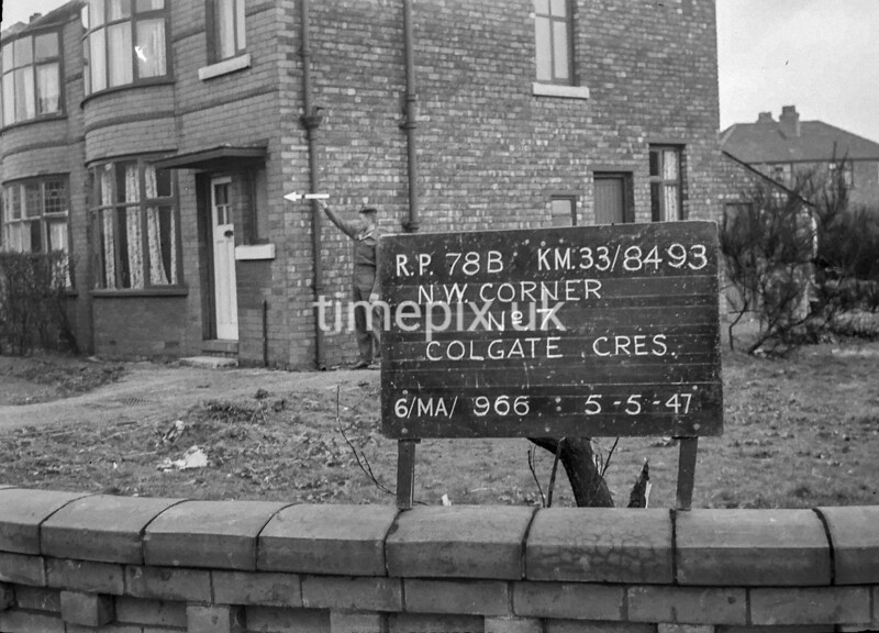 SJ849378B, Ordnance Survey Revision Point photograph in Greater Manchester
