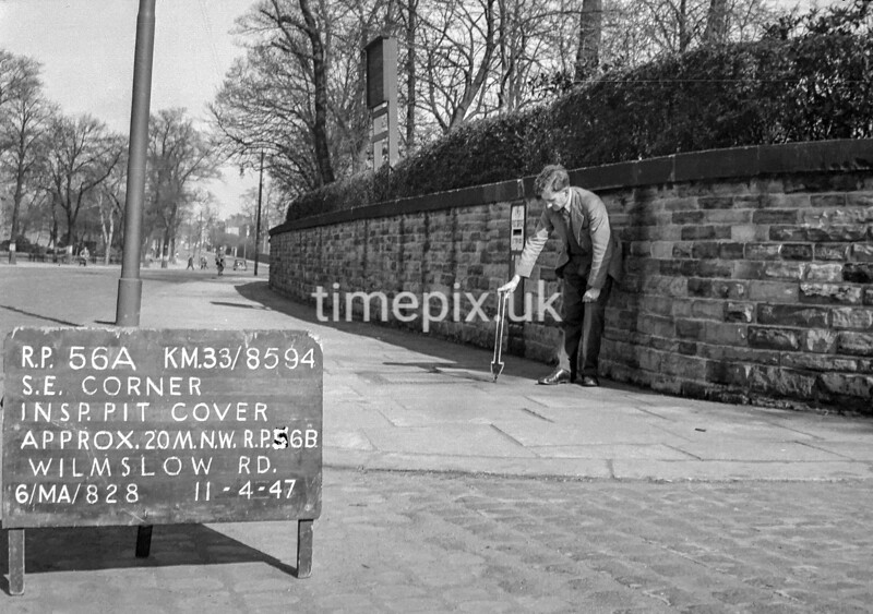 SJ859456A, Ordnance Survey Revision Point photograph in Greater Manchester