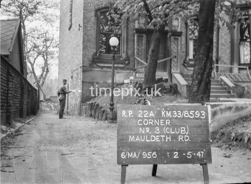 SJ859322A, Ordnance Survey Revision Point photograph in Greater Manchester