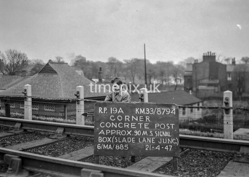SJ879419A, Ordnance Survey Revision Point photograph in Greater Manchester