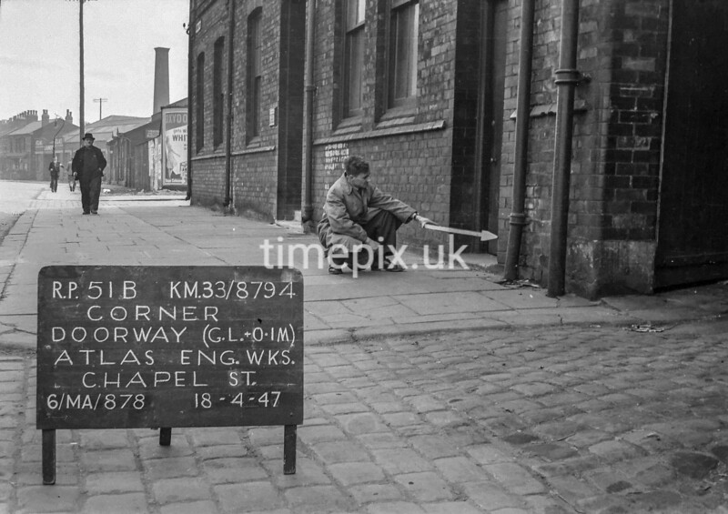 SJ879451B, Ordnance Survey Revision Point photograph in Greater Manchester