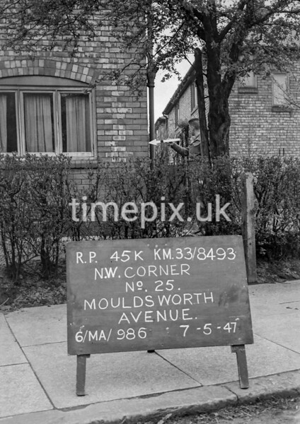 SJ849345K, Ordnance Survey Revision Point photograph in Greater Manchester
