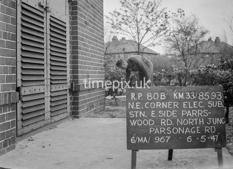 SJ859380B, Ordnance Survey Revision Point photograph in Greater Manchester