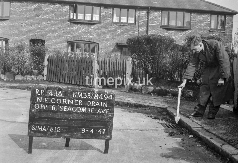 SJ849443A, Ordnance Survey Revision Point photograph in Greater Manchester