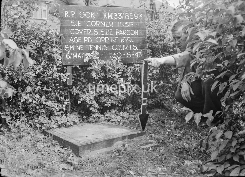 SJ859390K2, Ordnance Survey Revision Point photograph in Greater Manchester