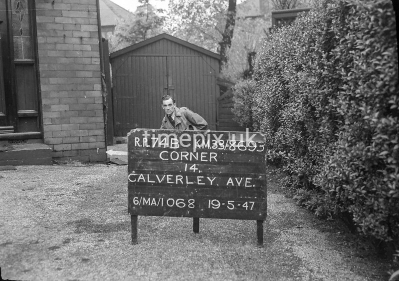 SJ869374B, Ordnance Survey Revision Point photograph in Greater Manchester