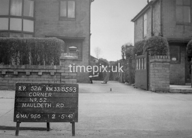 SJ859352A, Ordnance Survey Revision Point photograph in Greater Manchester