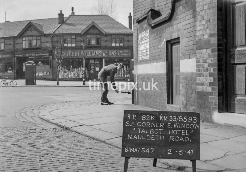 SJ859382K, Ordnance Survey Revision Point photograph in Greater Manchester