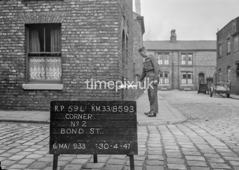 SJ859359L, Ordnance Survey Revision Point photograph in Greater Manchester